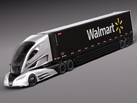 3d model 2015 walmart truck