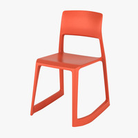 vitra tip ton chair 3d model