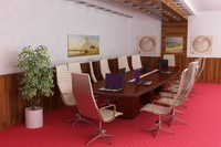 3ds max conference room