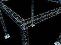 3d model of truss