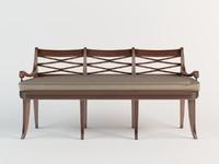 theodore alexander bench 3d model