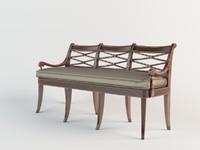 3d theodore alexander bench