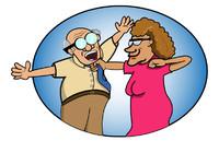 Old people cartoon