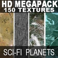 150 HD sci-Fi planet textures mega pack