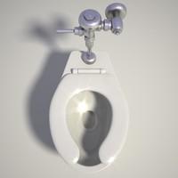 public toilet seat 3d model