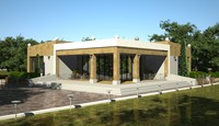 3d model sketch house