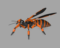 robot wasp 3d 3ds