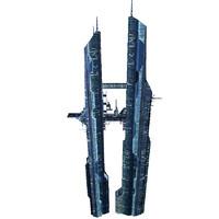skyscraper ski-fi 3d model