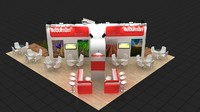 3ds max fair stand design