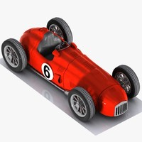 Cartoon Vintage Racing Car 1