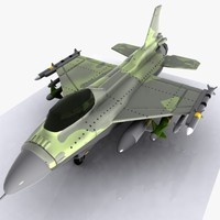 3d cartoon fighter aircraft