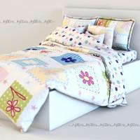 3d bed linen model