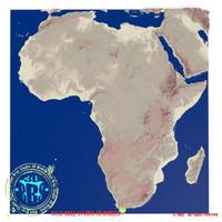 africa elevation 3d model