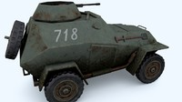 light armored car wwii 3d obj