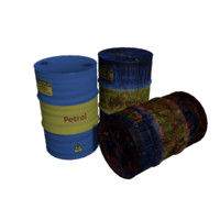 3d 3ds barrels rusty
