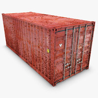 container 20ft old 3d model