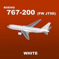 pw boeing 767-200 white max