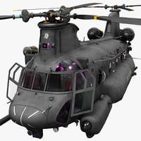 3d model mh 47 chinook 2