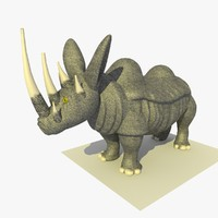 mutant rhino alien 3d 3ds
