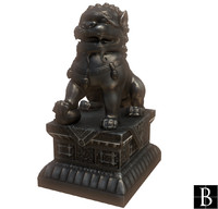 chinese statue 3d fbx