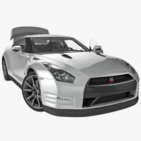 3d nissan gtr 2014 rigged model