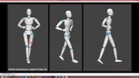 alan walk highheels motion capture animation