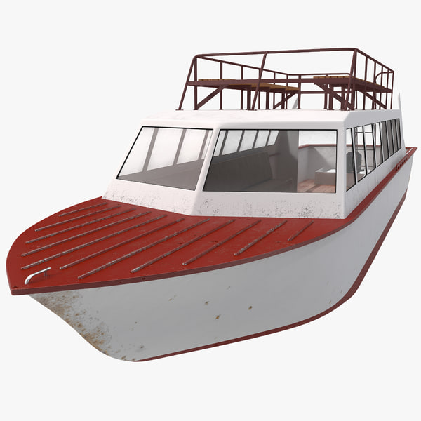 Tourist Boat vessel yacht watercraft ship motorboat water river lake waterway ocean sea vray lookout transport transportation