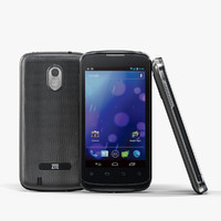 3d low-poly zte v889m black