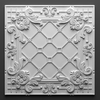 3d tile wall brooklyn tin model