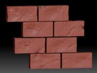 3d model of bricks wall