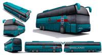 Low-poly bus - set 01