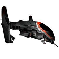 3d model ski-fi fighter fi