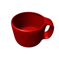 3d obj large coffee mug