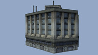 Low Poly Industrial Building