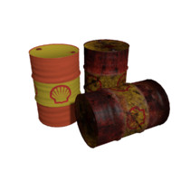 barrels rusty 3ds