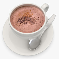 hot chocolate milk 3d model