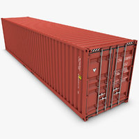 3d model realistic container 40ft