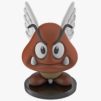 3d model flying goomba toy
