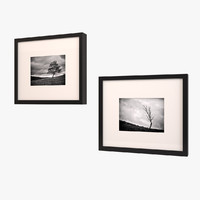 maya framed art black white
