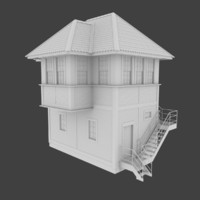 optimized railroad tower 3d model