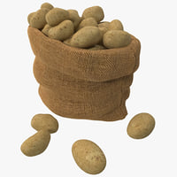 3d model sack potatoes