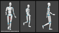 alan walk 1 motion capture animation