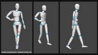 alan walk 2 highheels motion capture animation
