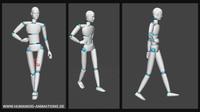 alan walk 2 highheels motion capture animation