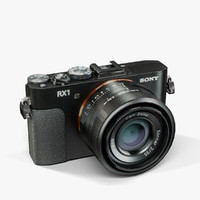 low-poly sony cyber-shot dsc-rx1 3d max