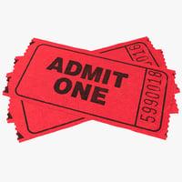 3d model tickets