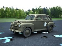 3d army staff car model