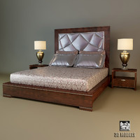 3ds max turri modern bed