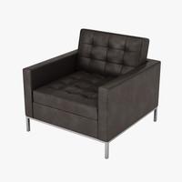 3d florence knoll armchair