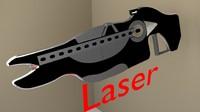 rifle laser 3d 3ds